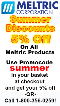 Meltric summer ad and logo