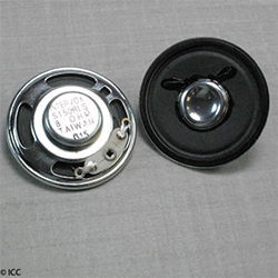 S150RLS - 0.2 Watts Round Metal Frame Speaker, Rare Earth, 38 x 8.0 mm