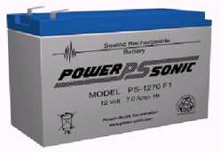 PS-1270-F1 - 7.0 AH, 12 Volts Sealed, Lead-acid Battery