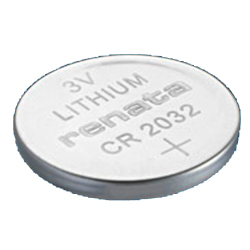 CR2032MFR - 3 Volts, 20.0 x 3.2 mm, 200 mAh Lithium Coin Cell Battery