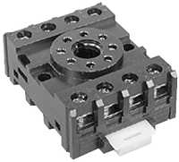 NDS-8F - 8 Pin Octal Base Finger Proof Relay Socket