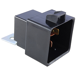 R51-1D40-24FW - SPST-NO 50A 24VDC Shrouded .250 Inch QC Terminal w/Mounting Flange, Weatherproof